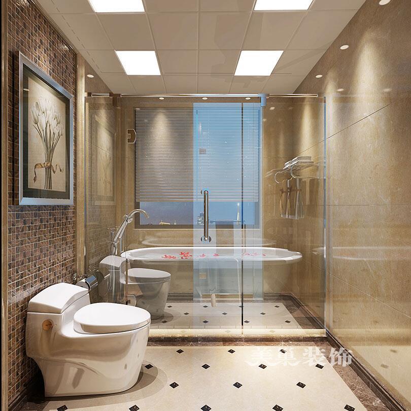 平别墅新中式装修效果图——卫生间